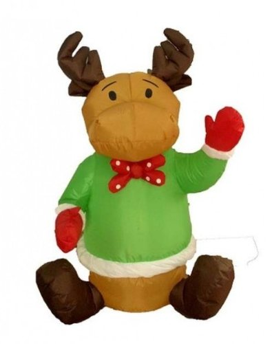 Four Foot Christmas Inflatable Sitting Reindeer Bl Case Pack 6 Four Foot Christmas Inflatable Sitti